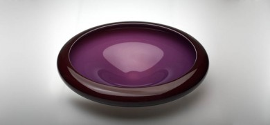 Purple and Red Bowl