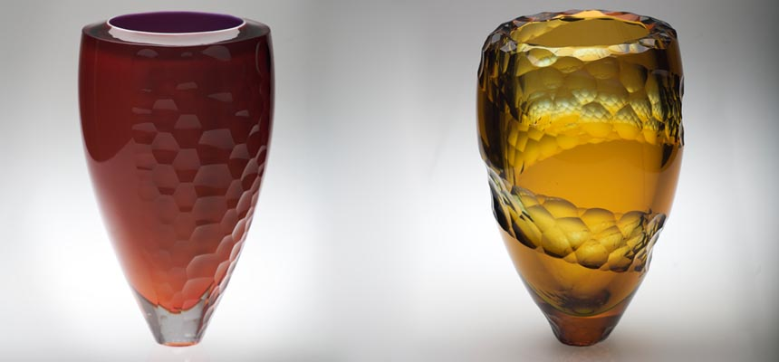 Skalice Vessel Yellow & Plum