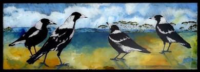 Wayne Pearson - Magpies on Escarpment